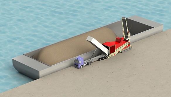 Shiploading Direct From Trucks | Truck Unloader | Telestack Ltd