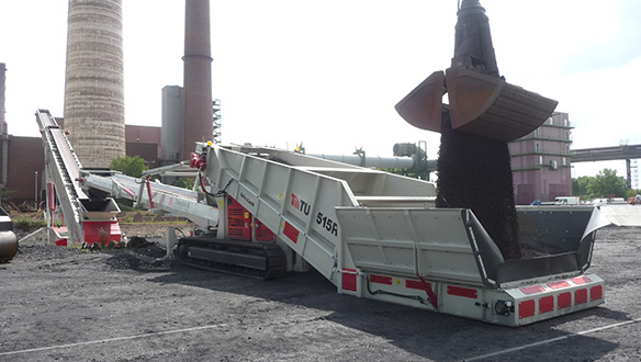 Mobile Truck Unloader Tracked Bulk Reception Feeder